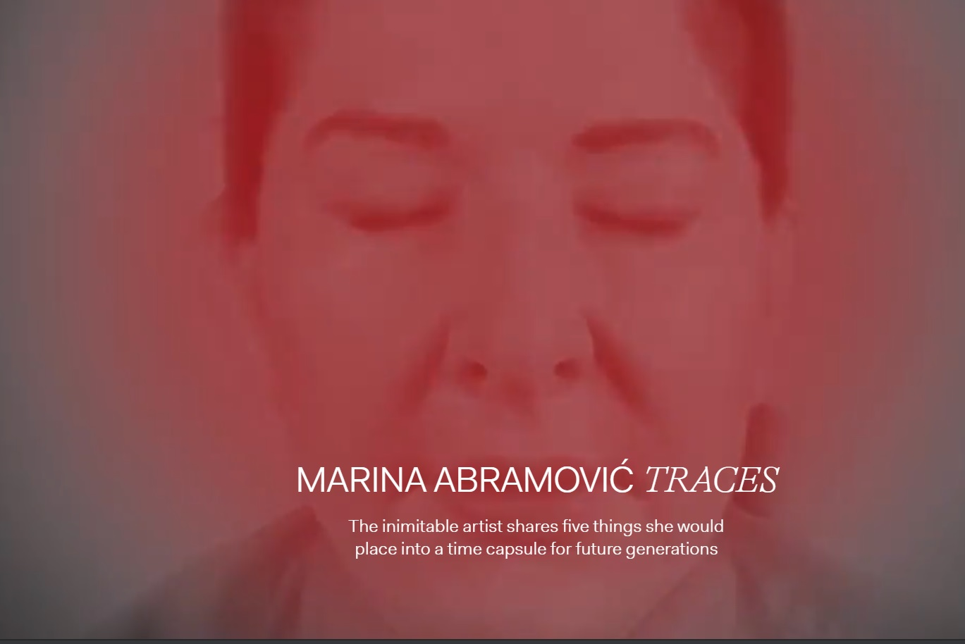 WeTransfer Partners With 'Spirit Cooking' Witch Marina Abramovic's 'Time Capsule'