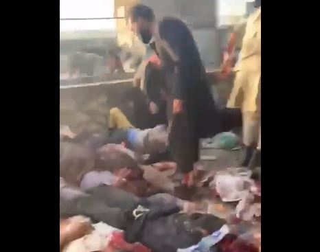 UPDATE— GRUESOME SCENE — MASS CASUALTIES AND DEAD — After Suicide Bombings Near Kabul Airport (Warning on Content)