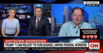 "FAKE NEWS: CNN Invites on Federal Worker ""Angry at Trump over Shutdown"" — Forgets to Mention He's a Public Union Boss (VIDEO)"