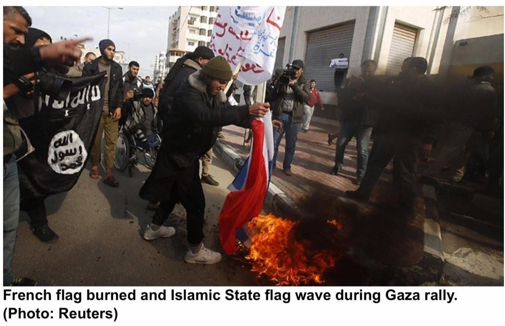 gaza flags isis flag