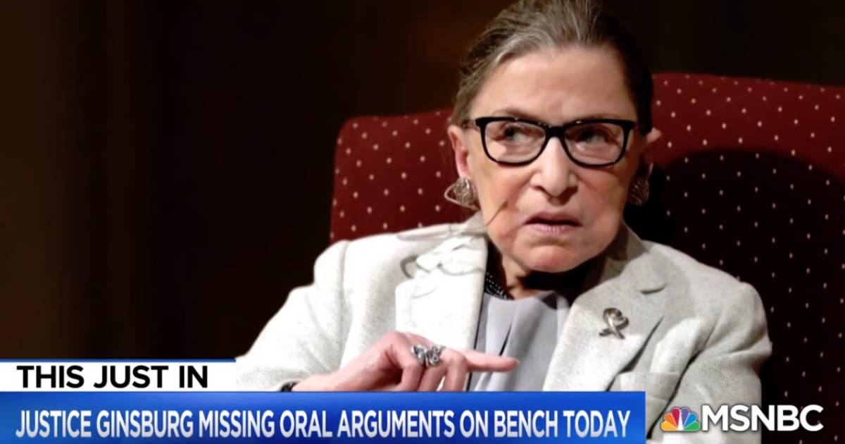 BREAKING: First Media Outlet to Report on Ruth Bader Ginsburg's Cancer NOW SAYS She Contracted Pneumonia - Is Fighting for Her Life