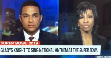 SICK. Don Lemon Shames Gladys Knight Before She Sings National Anthem at the Super Bowl (VIDEO)