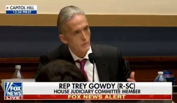 photo image Rep. Trey Gowdy to AG Jeff Sessions: Congress Will Investigate a Politicized DOJ (Video)