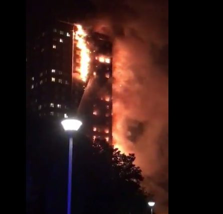 MASSIVE FIRE at London Grenfell Tower – SCREAMS HEARD FROM BURNING APT. BUILDING! (VIDEO)