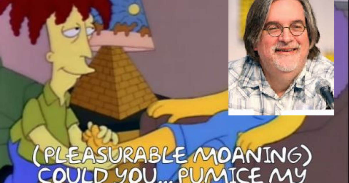Simpson's Runs Tired Anti-Trump Episode in Same Week Creator Groening is Accused of Forcing Epstein's Teen Sex Slave to Rub His Crusty Toes