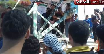 """VIDEO: Peaceful Palestinians Brought Giant Catapult to """"Protests"""" on Israeli Border on Monday"""