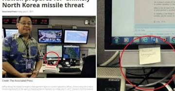 Hawaiian Emergency Management Officials Hold Interview – Have Post-It Notes of Legible Passwords on Their Computer Screens