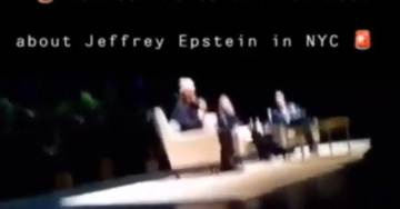 """Heckler Interrupts Bill and Hillary's Kickoff Snoozefest — Screaming, """"Bill this is Boring! Talk About Jeffrey Epstein!"""" (VIDEO)"""