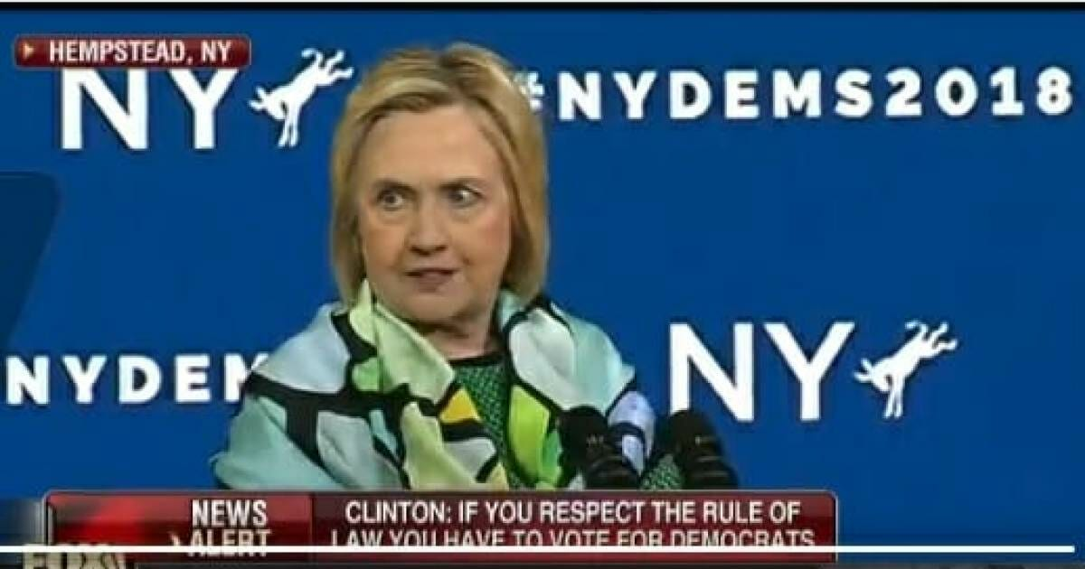 This is Rich: Crooked Hillary Clinton Says if You Want to 'Stand for Rule of Law' You Have to Vote Democrat (VIDEO)