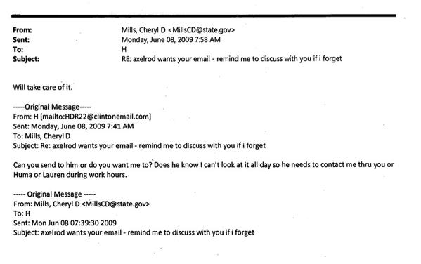 hillary axelrod email