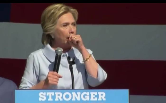 hillary coughing fit