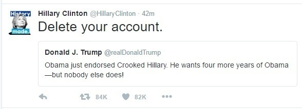 hillary delete account