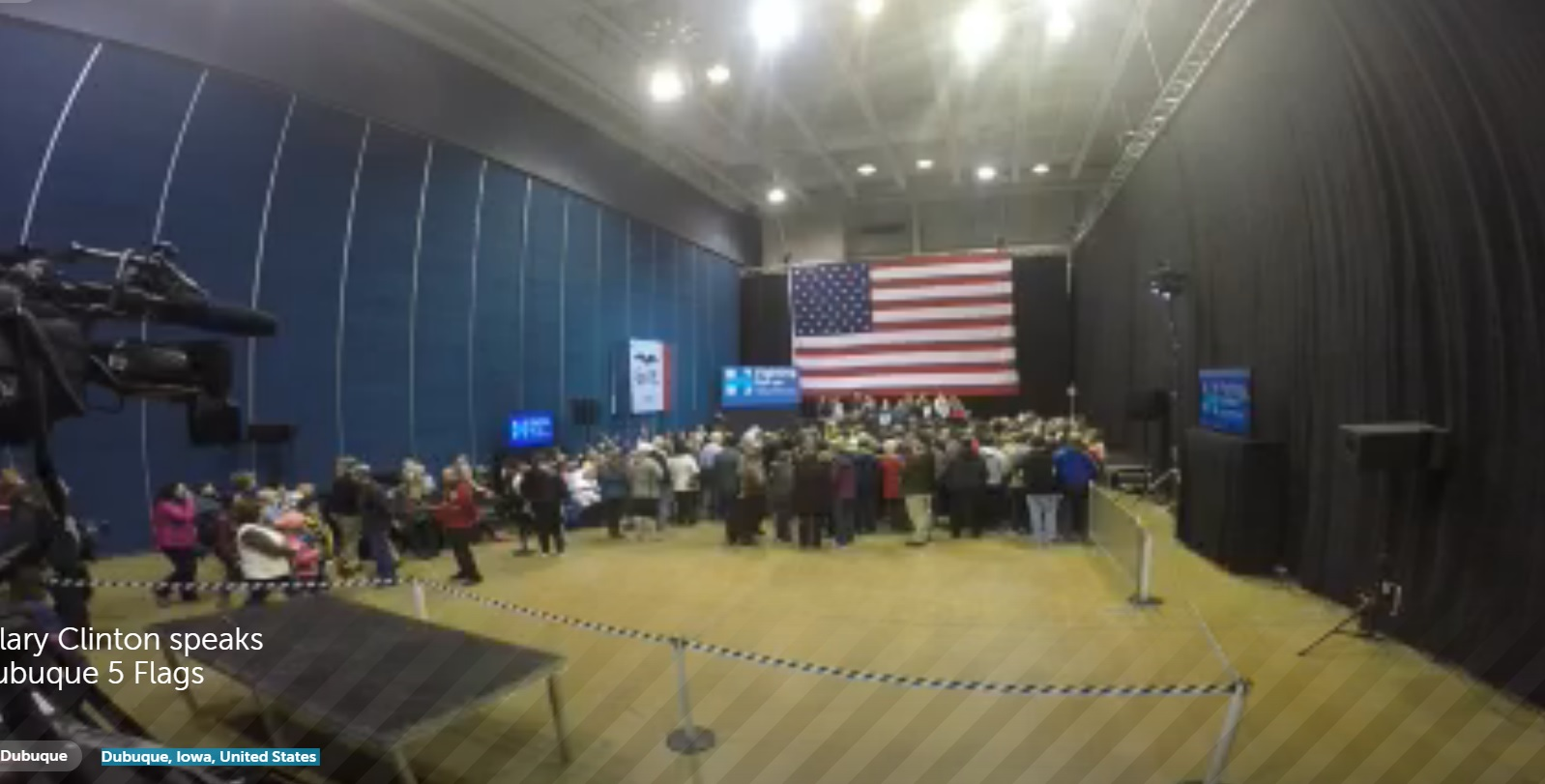 Three Days Before Caucus=> Hillary Clinton Stumps to Half-Empty Room in Dubuque, Iowa