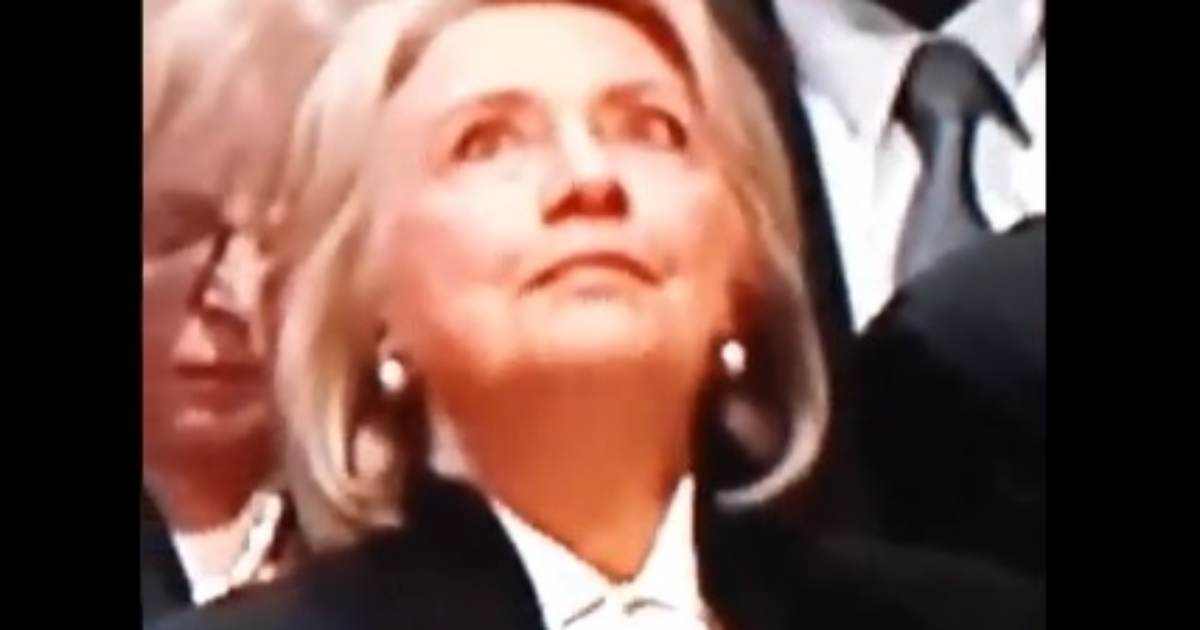 WOW! Hillary's Eyes Start Rolling Around Her Head at Bush Sr.'s Funeral --VIDEO