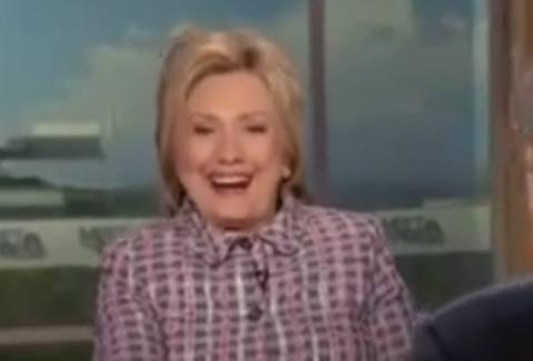hillary laughing unfavorables