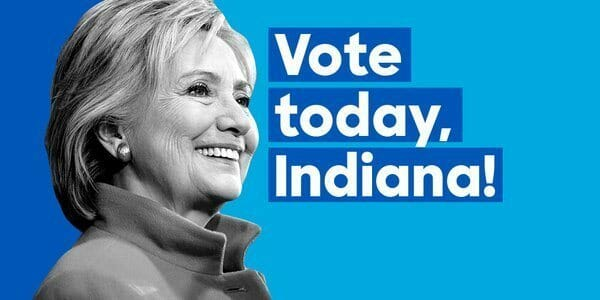 hillary vote today indiana