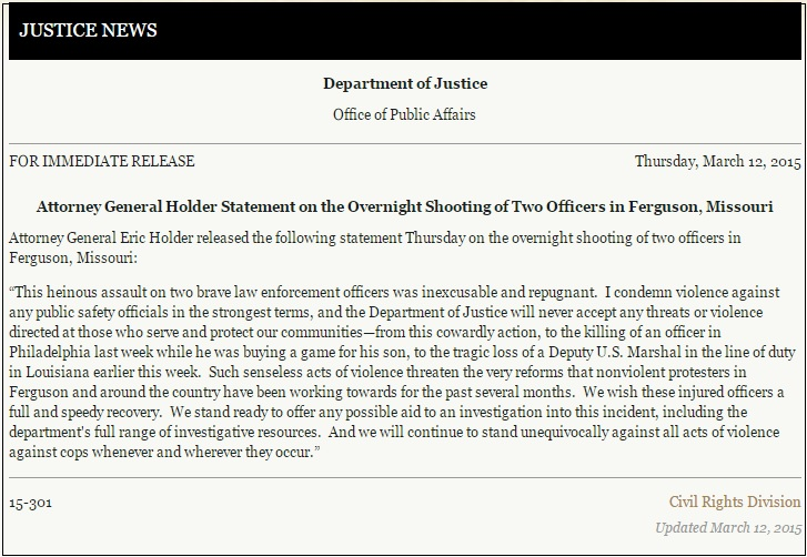 holder ferguson statement