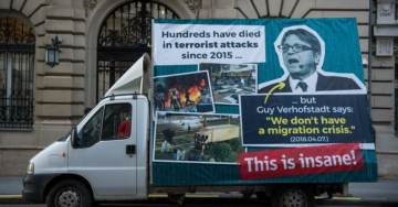 Belgian Thought Police Make Arrest – Hungarian Government Commissioned Van with Anti-Immigrant Posters Pulled Over by Police