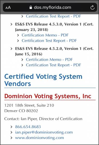Dominion Voting Systems: Connecting the Dots 7