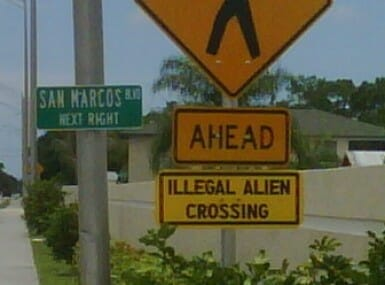 illegal crossing