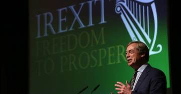 Farage at Irexit Conference: Brexit And Trump Revolts A ''Pivotal Point'' In Western History (VIDEO)
