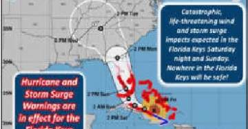 National Weather Service Tweets Out Dire Warning: 'NOWHERE IN THE FLORIDA KEYS WILL BE SAFE – EVACUATE***'