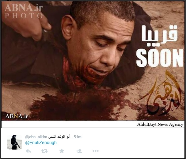 isis behead obama