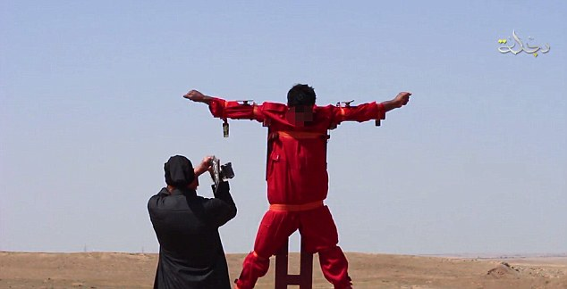 isis cross hung iraq