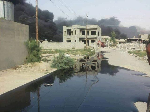 isis crude oil spill