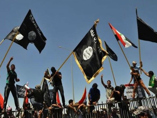 isis flags syria