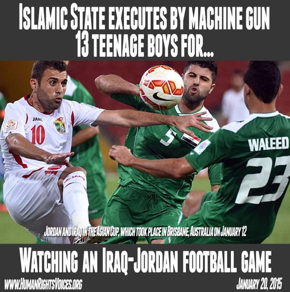 isis soccer slaughter