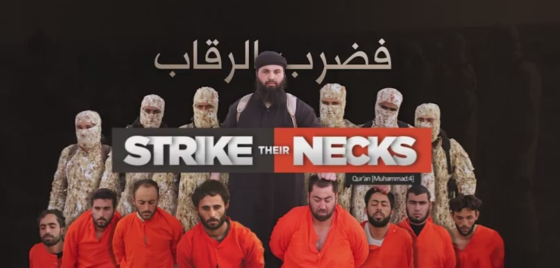 isis strike their necks