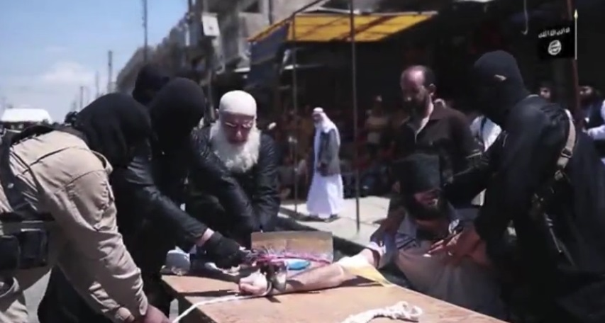 isis thief video hand