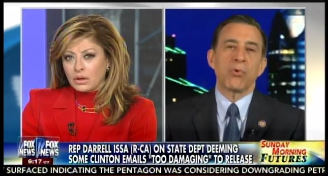 "Rep. Issa: Case Against Hillary Makes Good Prosecution – She's Still ""Lying in Plain Sight"" (VIDEO)"