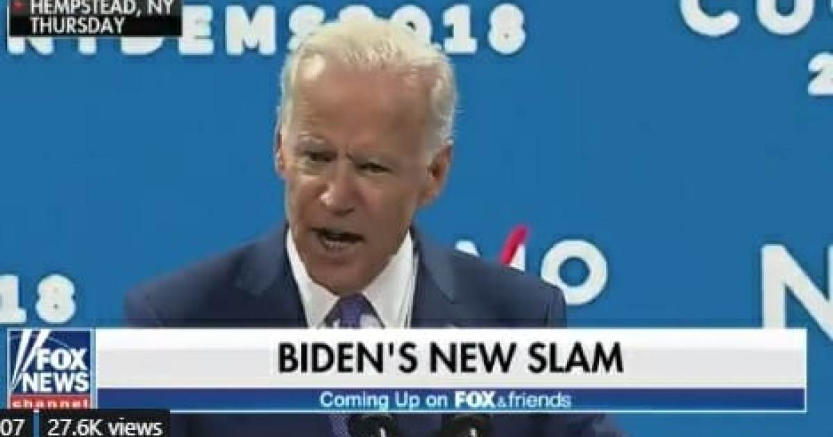 "Angry Joe Biden Trashes Trump and His Supporters: Trump's ""Phony Populism and Fake Nationalism"" Is Hurting Us (VIDEO)"