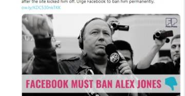 """Oh the Irony…""""Free Press"""" Outlet Calls for Facebook to Remove All Traces of Conservative Commentator Alex Jones"""