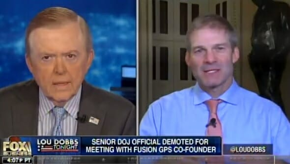 Rep. Jim Jordan: FBI Paid for Dossier, Then Used It to Wiretap Trump, Strzok Brought Request to FISA Court
