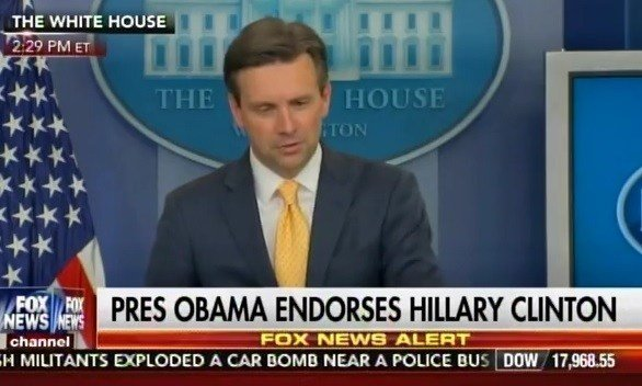 josh earnest hillary clinton