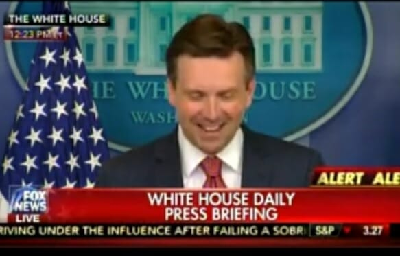 VIDEO=> Obama White House Attacks Donald Trump for Standing By Aide Charged With Hoax Assault