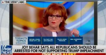 Dopey Joy Behar Calls for All Republicans to Be Jailed for Not Supporting Trump Impeachment (VIDEO)