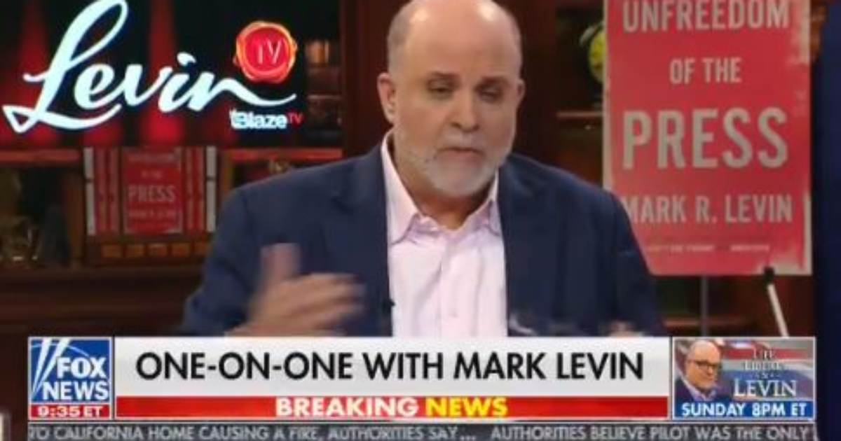 "photo image Must See!… Mark Levin UNLOADS on the Schiff Sham: ""We Need the Whistleblower to Testify, We need Schiff to Testify…"