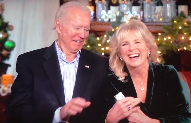 Wow. Dementia Joe and Jill Biden Can't Figure Out How to Pop a Confetti Canon on 2021 New Years Broadcast