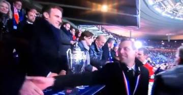 """VIDEO: French Football Fans Chant, """"F*ck You, Macron!"""" as French President Sits in the Stands at French Cup Final"""