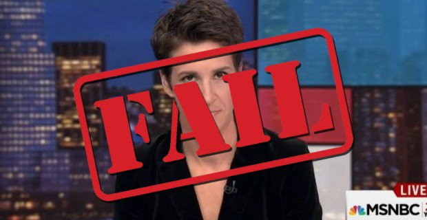 MAJOR FAIL – MSNBC's Rachel Maddow Dedicates Over Half of Her Airtime Talking About Russian Conspiracy Theories