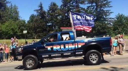 Image result for indianapolis shots fired truck maga flag