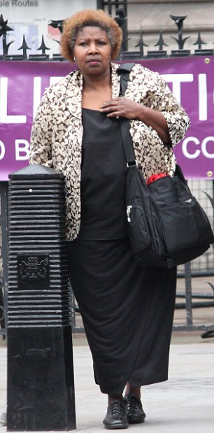 Marie Auma, outside Central London County Court during hearing of her case against Met Police. Photo by Paul Keogh 07914 583 378
