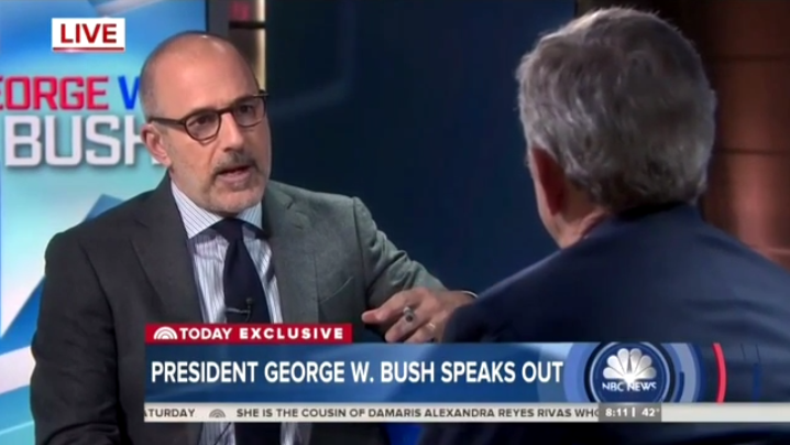 Matt Lauer Urges Bush to Attack Trump on Multiple Issues During Interview (VIDEO)