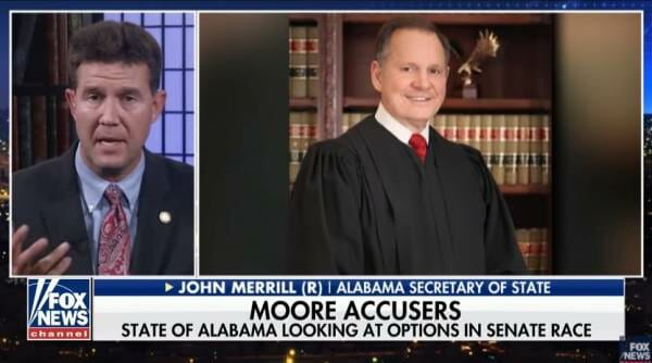 photo image Alabama Secretary of State: State Republican Party May Nullify Judge Moore's Election — Even if He Wins (VIDEO)