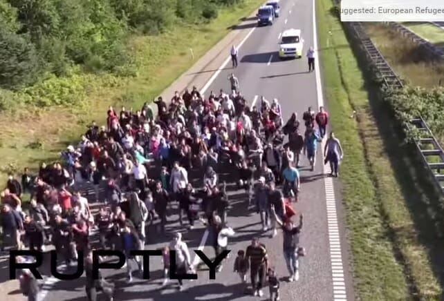 migrants highway denmark