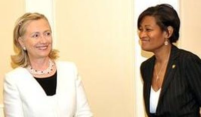 photo: Hillary Clinton and Cheryl Mills, happier days